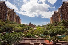 Disney Aulani Resort on Oahu Hawaii. KO`OLINA, OAHU, HAWAII - FEBRUARY 26, 2017: Disney Aulani Resort, an upscale hotel and entertainment resort by Walt Disney stock image
