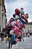 Disney-Ballonsverkoper op Bolívarvierkant, Bogota royalty-vrije stock foto's