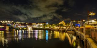 Disney balza lago e vista Fotografia Stock