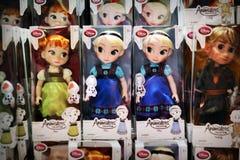 Disney Bevroren poppenvertoning royalty-vrije stock afbeelding