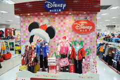 Disney boys and girls clothes shop royalty free stock images