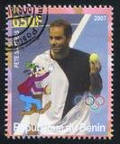 Disney Caharacter en Olympische Ringen Stock Foto's