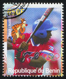 Disney Caharacter and Olympic Rings. BENIN - CIRCA 2007: stamp printed by Benin, shows Omar Linares, Disney Caharacter and Olympic Rings, circa 2007 Stock Image