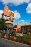 Disney California Adventure Cozy Cone Motel area. This is a snack area within Disneyland's California Adventure in California called The Cozy Cone Motel. This is Royalty Free Stock Photography