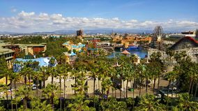 Disney California Adventure Park. View of Disney California Adventure Park from atop of Disneyland Hotel Royalty Free Stock Photography