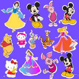 Disney cartoon sticker Stock Images