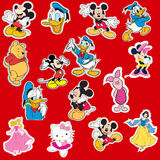 Disney cartoon sticker collection Royalty Free Stock Photography