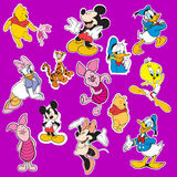 Disney cartoon sticker Royalty Free Stock Image