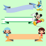Disney cartoon stickers Stock Image