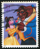 Disney cartoon. UNITED STATES - CIRCA 2006: stamp printed by United states, shows cartoon, Disney Characters, Beauty and the Beast, circa 2006 stock image