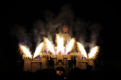 Disney Castle with firework Royalty Free Stock Photos