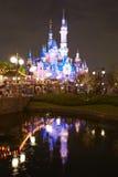 Shanghai Disney castle night royalty free stock photo