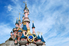Disney castle paris. Outside the castle at  paris disneyland Stock Photos