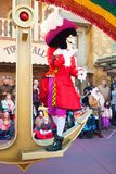 Disney character, Captain Hook. From the movie Peter Pan participating in the Fantasy Festival parade in DisneyWorld Orlando Florida royalty free stock image