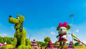 DUBAI, UNITED ARAB EMIRATES - DECEMBER 13, 2018: Disney characters in Dubai Miracle Garden
