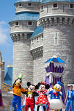 Disney Characters. Disney main characters, Mickey, Minnie, Goofy and Donald dancing in the Dreams Come True performance in Orlando Florida stock image