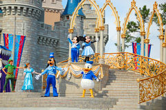 Disney Characters on Stage Stock Image