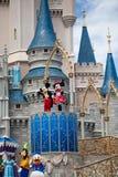 Disney charakterów kasztel Fotografia Royalty Free