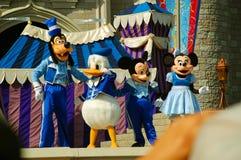 Disney charaktery na scenie Zdjęcia Royalty Free