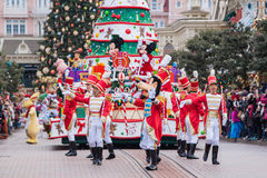 Disney Christmas Parade Stock Photo