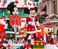 Disney Christmas Parade. PARIS – December 31, 2013 – Disney Christmas Parade in Disneyland Paris Stock Photo