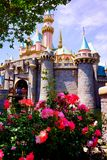 Disney Cinderella Castle in Spring Flowers. Disney Cinderella castle at Magic Kingdom holds memories for many childhood fairytales Royalty Free Stock Photos