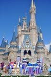 Disney Cinderella Castle Walt Disney World. Dream Along with Mickey show in Cinderella Castle at Walt Disney World in Orlando, Florida, USA Stock Photography