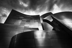 The Disney concert hall in Los Angeles California royalty free stock image