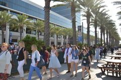 Disney D23 Expo. Disney enjoyed three sold out days at their Bi-annual D23 Expo in Anaheim whcih saw packed halls and lot sof stars Stock Images