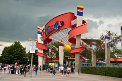 Disney-Dorfeingang in der Disneyland-Rücksortierung Paris Lizenzfreies Stockfoto