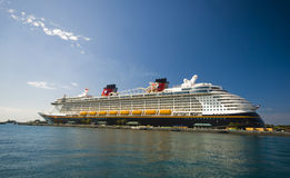 Disney Dream. Docked in Nassau, The Bahamas Royalty Free Stock Photo