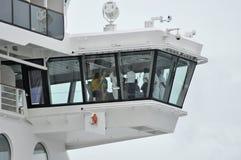 Disney Dream cruise ship crew on a bridge Royalty Free Stock Image