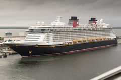 Disney Dream cruise ship. Port Canveral ship's in Dock from the Carnival Valor Stock Image