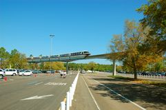 Disney-Einschienenbahn Stockfoto