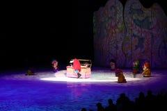 Disney en el hielo, blanco como la nieve, Des Moines, Iowa, noviembre de 2015 Fotos de archivo