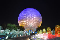 Disney Epcot Center at night, Florida, USA Royalty Free Stock Images