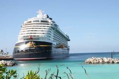 Disney Fantasy. In port at Castaway Cay in the Bahamas Royalty Free Stock Photo