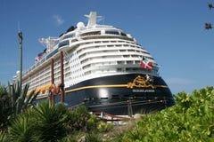 Disney Fantasy. In port at Castaway Cay Island stock photos