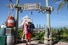 Castaway Cay- Fresh Catch. Pretty photo spot on Castaway Cay Island...Fresh Catch Royalty Free Stock Images