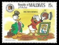 Disney-Figuren in Doktor Knowall lizenzfreie abbildung