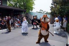 Disney-Figuren an Star Wars-Wochenenden bei Disney Stockbild