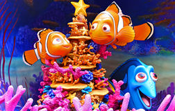 Disney finding nemo characters. Figures of famous disney movie finding nemo, dory, marlin and nemo