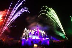 Disney Fireworks. Fireworks at Disneyland, Hong Kong Royalty Free Stock Photos