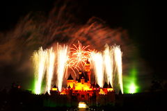 Disney Fireworks. Fireworks at Disneyland, Hong Kong Stock Images