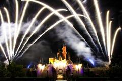 Disney Fireworks. Fireworks at Disneyland, Hong Kong Stock Photography