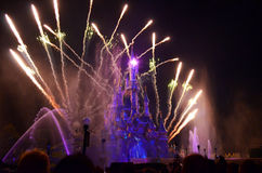 Disney Fireworks stock images