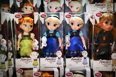 Disney Frozen dolls display Royalty Free Stock Image