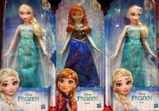 Disney Frozen Elsa and Anna Dolls stock photography
