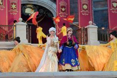 Disney fryst prinsessa Elsa och Anna royaltyfria bilder