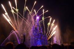Disney fyrverkerier Arkivbilder